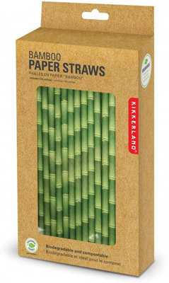 Papieren rietjes bamboe