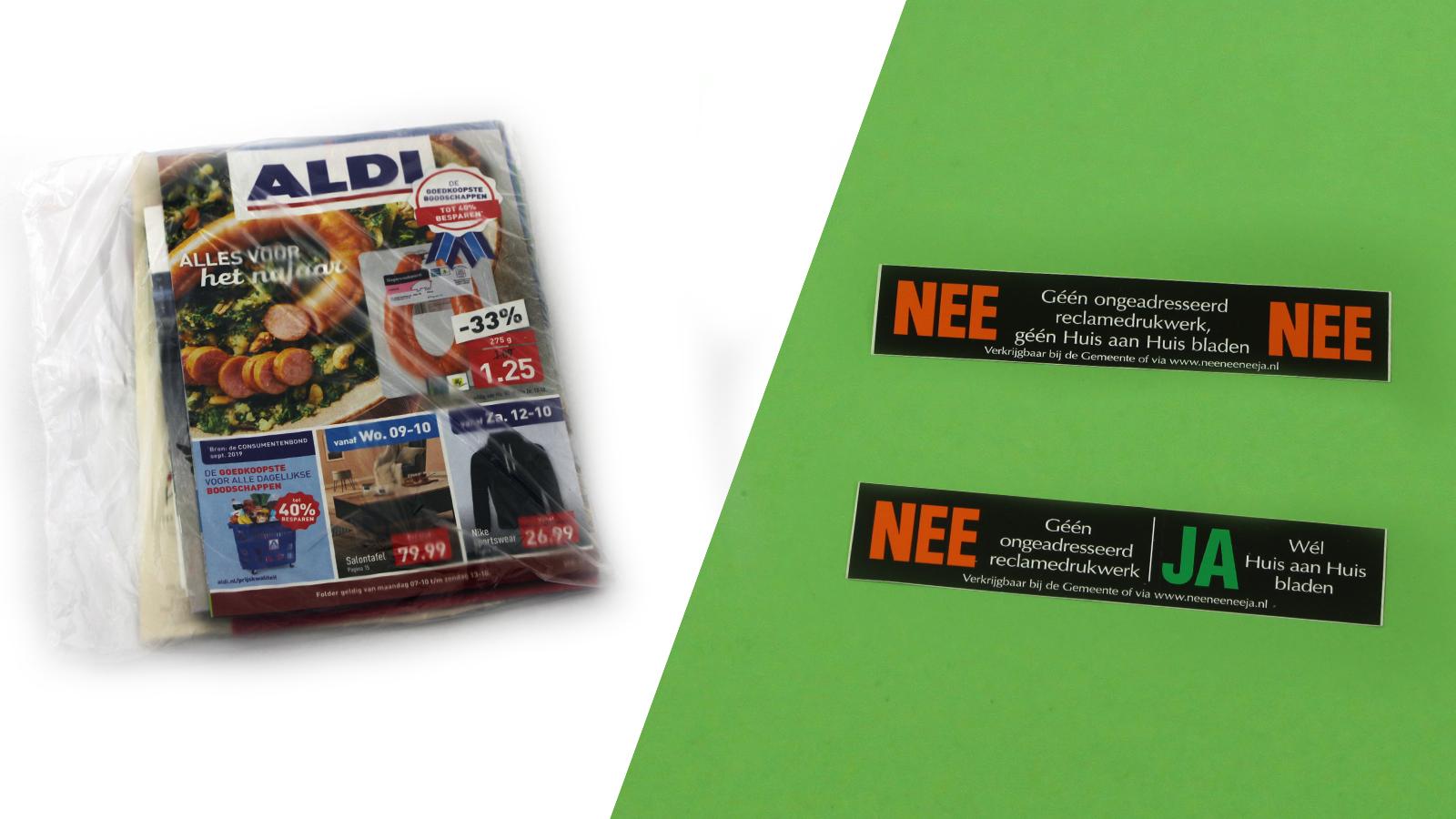 Duurzame wissel: Van reclamefolders naar NEE-NEE sticker