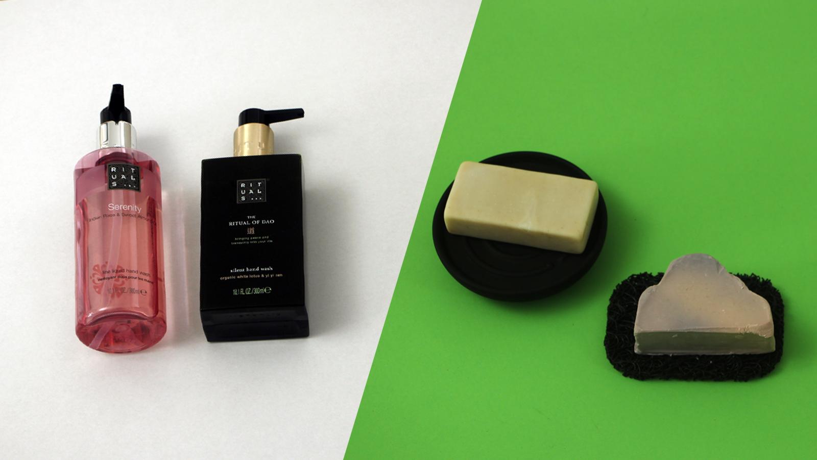 Duurzame wissel: Van vloeibare zeep naar stuk zeep